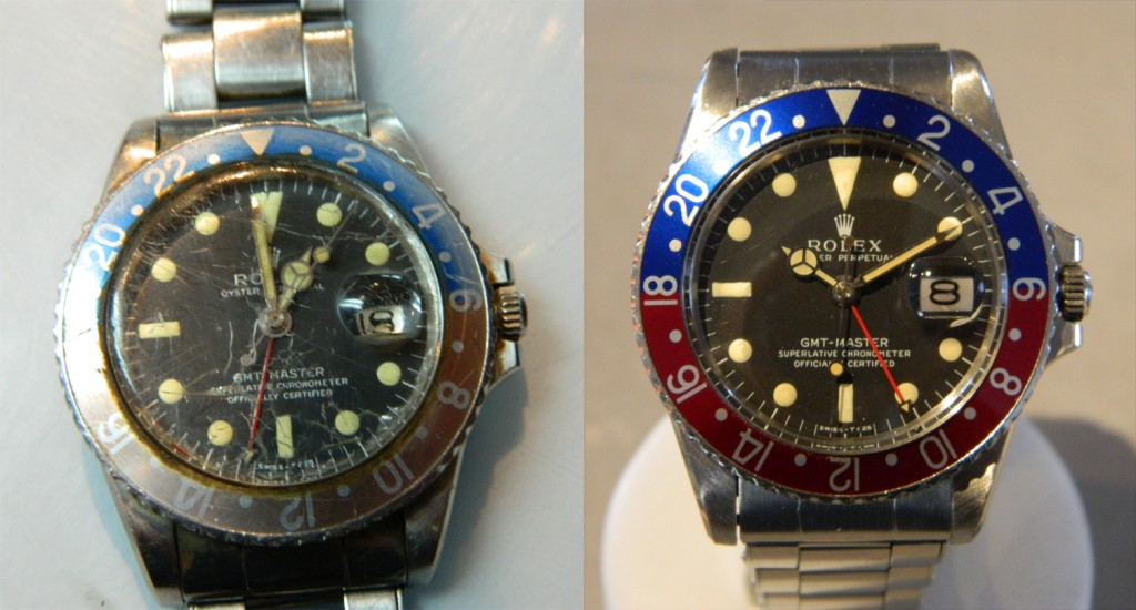 Rolex GMT before and after